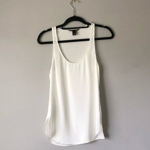 Victoria's Secret White Sheer Tank Top